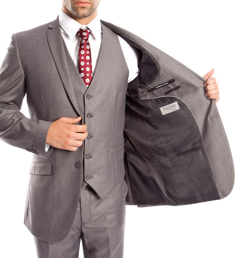 Grey Modern Fit 3-Piece Suit