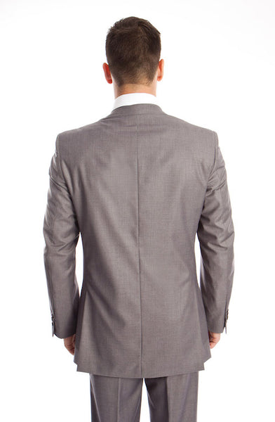 Grey 3 Piece Slim Fit Vested Suit