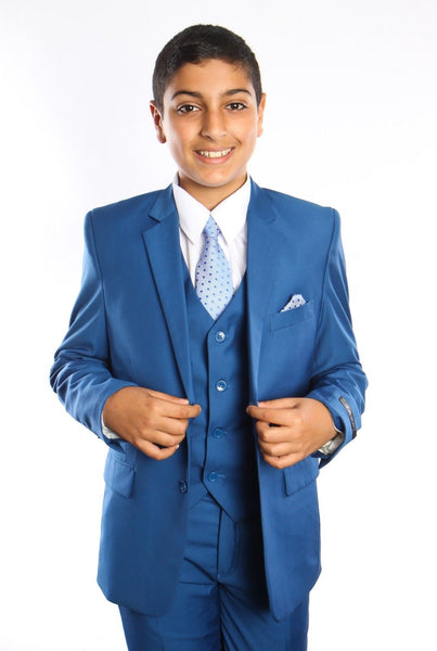 Boys Indigo blue 5-PC Suit Set