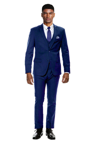 Indigo Blue Ultra Slim Fit 3-Piece Prom Suit