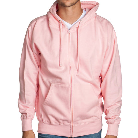 Light Pink Zip Up Hoodie Sweatshirt