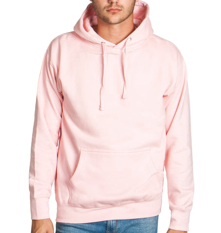 Light Pink Fleece Pullover Hoodie