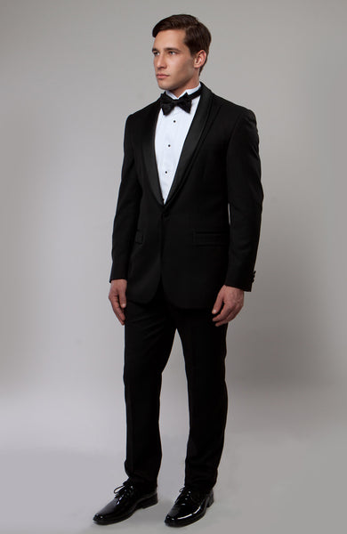 Black Peak Lapel with Shawl Collar Tuxedo