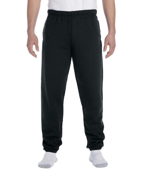 Men's Black Fleece Stretch Sweatpants