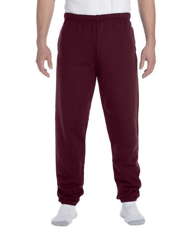 Men's Burgundy Fleece Stretch Sweatpants