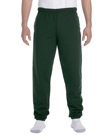 Men's Hunter Green Fleece Stretch Sweatpants
