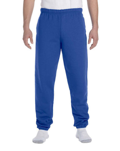 Men's Royal Blue Fleece Stretch Sweatpants