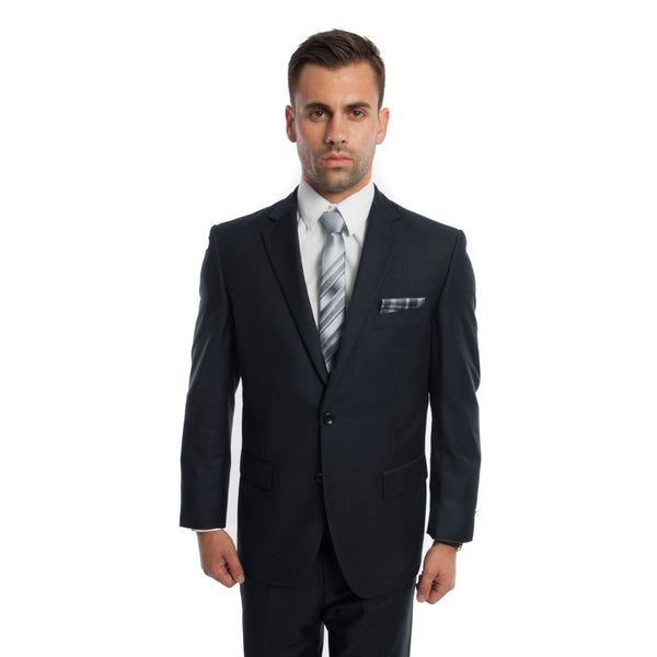 Navy 2 Button Twill Modern Fit Suit