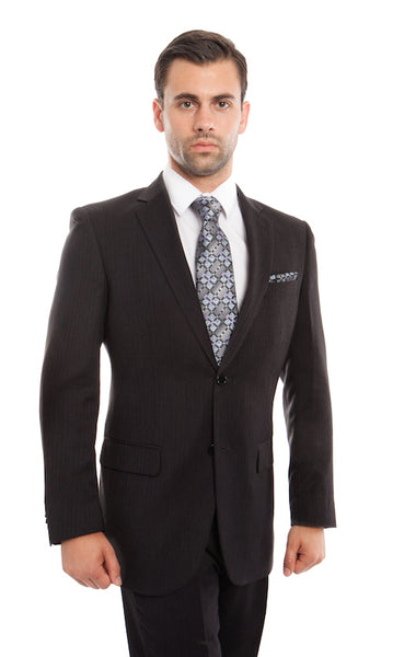 Navy Herringbone Modern Fit Suit