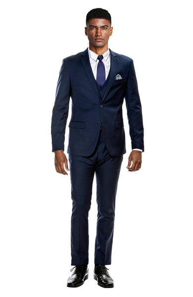 Navy Blue Ultra Slim Fit 3-Piece Prom Suit