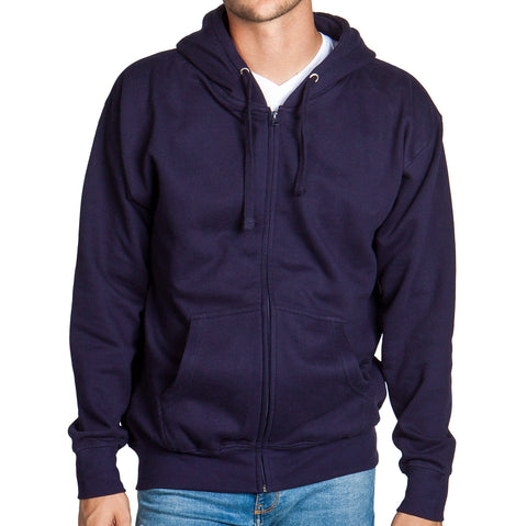 Navy Zip Up Hoodie Sweatshirt