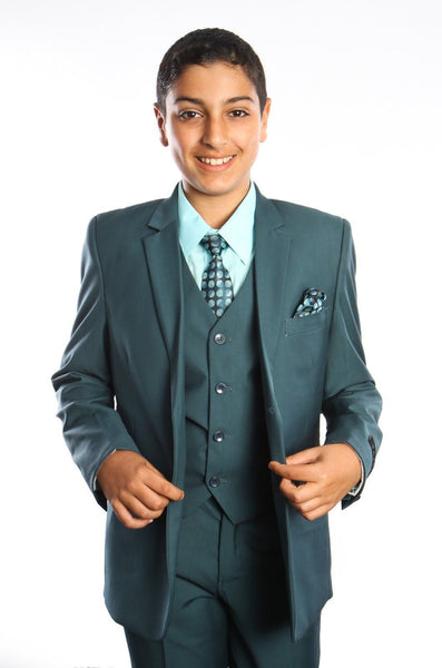 Boys Nile Green 5-PC Suit Set