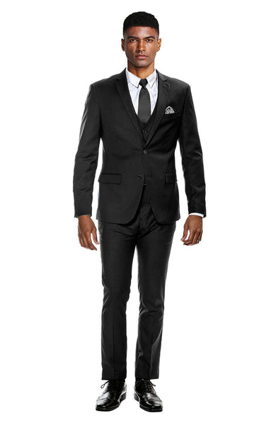 Black Ultra Slim Fit 3-Piece Prom Suit
