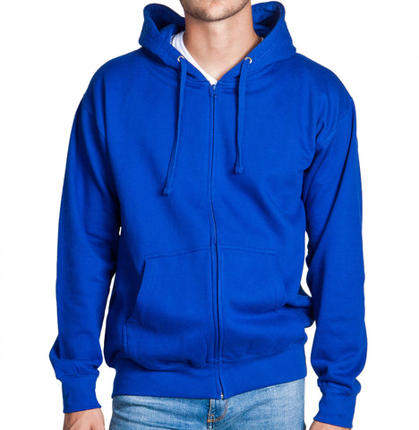 Royal Blue Zip Up Hoodie Sweatshirt