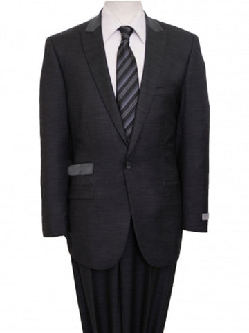 Charcoal Tic Two Tone 1 Button Suit