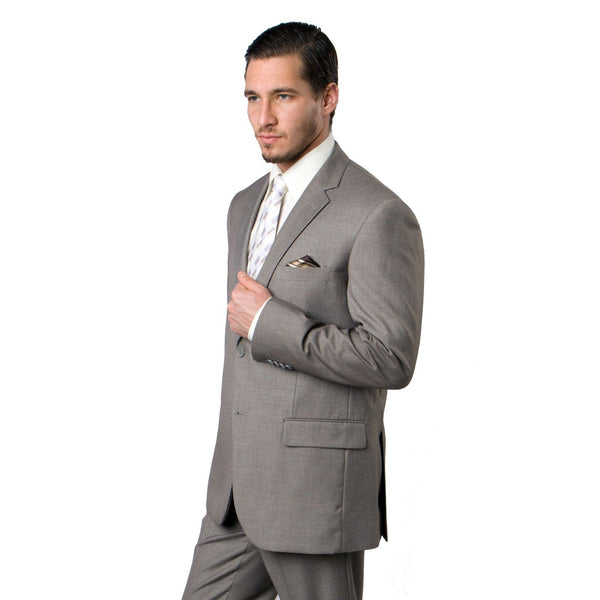 Men's Grey 3 Piece Pinstripe Classic Fit Suit