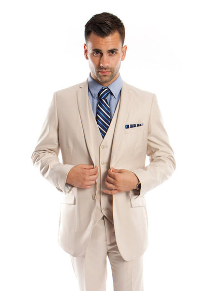 Tan Modern Fit 3-Piece Suit