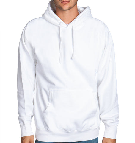 White Fleece Pullover Hoodie