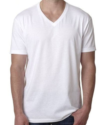 Men's Cotton White V-Neck T-Shirt