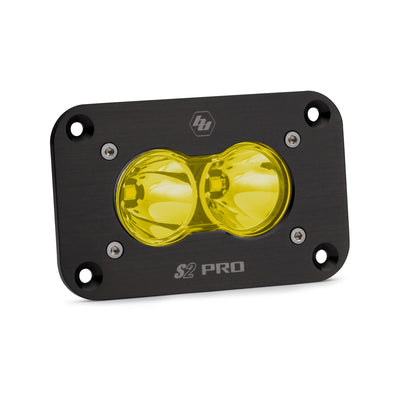 Baja Designs S2 Pro, LED Spot, Amber, Flush Mount