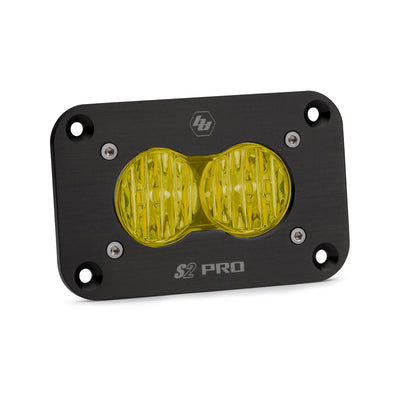 Baja Designs S2 Pro, LED Wide Cornering, Amber, Flush Mount