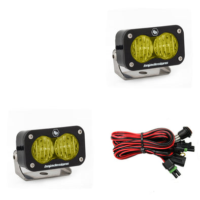 Baja Designs S2 Pro, Pair Wide Cornering, LED, Amber