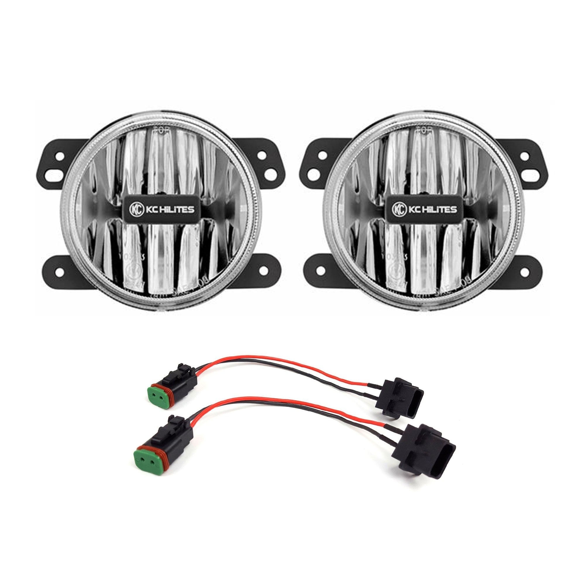 KC HiLiTES Gravity LED G4 Clear Fog Lights for Jeep JL-Rubicon-Moab /& JT-Rubicon Steel Bumper