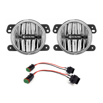 Gravity® LED G4 Clear Fog Lights for Jeep Wrangler JL-Sahara-Rubicon & Gladiator JT-Overland-Rubicon Stock Bumper - #506