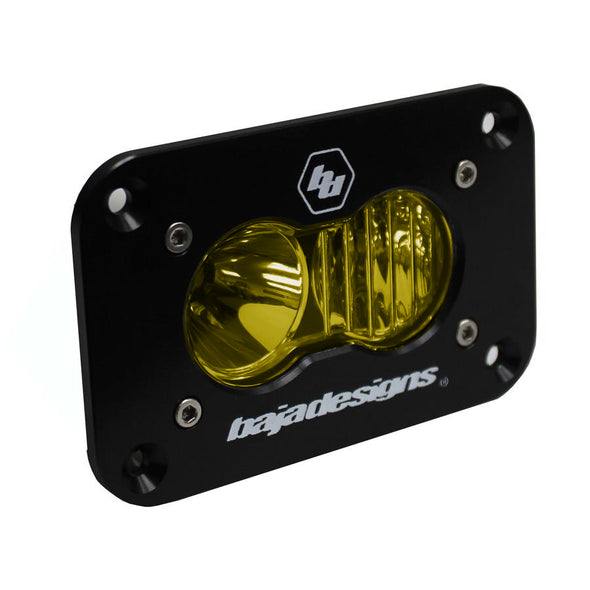 Baja Designs S2 Sport, LED Driving/Combo, Amber, Flush Mount