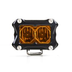 HERETIC 6 SERIES LIGHT BAR - RAW w/ Harness, Amber BA-2-6