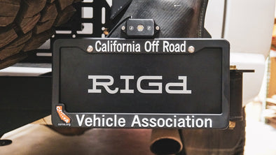 Rago Fabrication LICENSE PLATE MOUNT for Hi-Vert™ Vertical Hi-Lift mount (4Runner UltraSwing only)