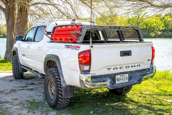 2nd & 3rd Gen Tacoma | Endeavor Bed Rack | Raw Steel