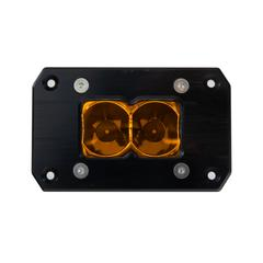 HERETIC 6 SERIES LIGHT BAR - BA-2: Flush Mount Pair W/ Harness- Flood, Amber