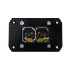 HERETIC 6 SERIES LIGHT BAR - BA-2: Flush Mount Pair W/ Harness- Flood, Clear