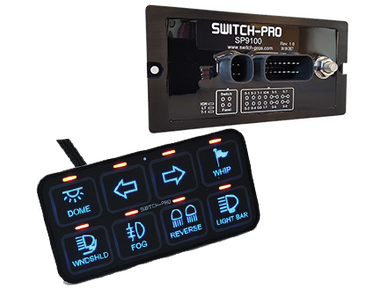 SWITCH PROS - SP-9100 BEZEL STYLE 8-SWITCH PANEL POWER SYSTEM WITH CONCEALED MOUNTING HARDWARE