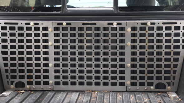 Toyota Tacoma Bed Modular Storage Panel - RAW STEEL
