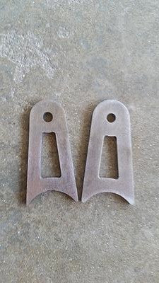 Tube Steel Weld In Tabs - Pair