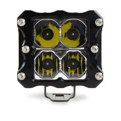HERETIC 6 SERIES QUATTRO LIGHT - PAIR, Flood, Clear W/Harness