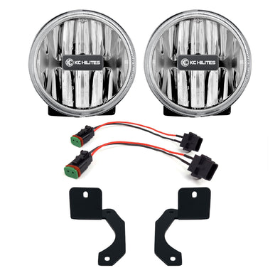 Gravity® LED G4 Clear Fog Lights for Jeep Wrangler JL-Rubicon-Moab & Gladiator JT-Rubicon Steel Bumper - #504