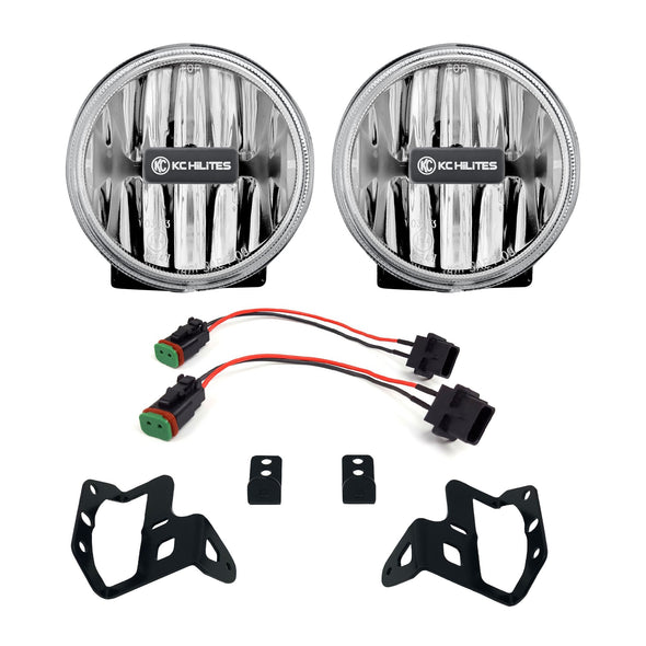 Gravity® LED G4 Clear Fog Lights for Jeep Wrangler JL & Gladiator JT Sport-S-Altitude Bumper - #502