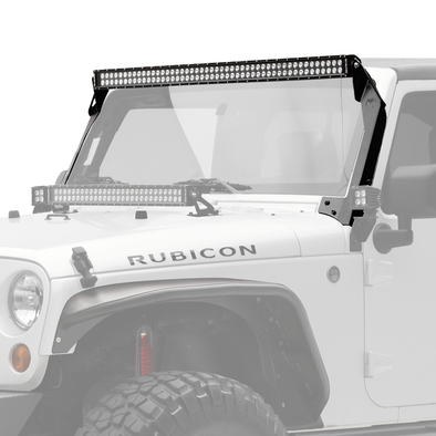 "50"" C Series C50 LED Bar & Overhead Mount Bracket Kit - Jeep Wrangler JK 07-18 - KC #366"
