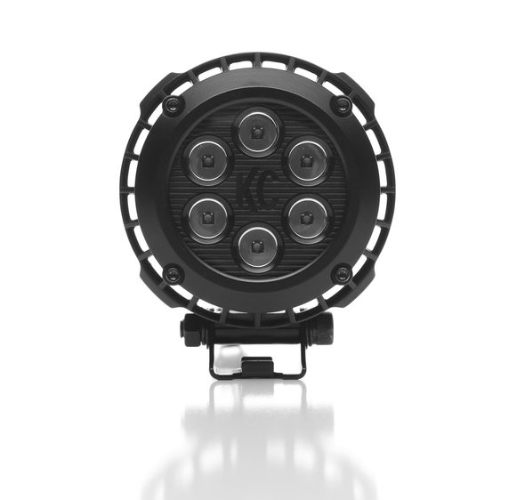 "KC HILITES 4"" ROUND LZR LED PAIR PACK SYSTEM - BLACK - KC #300"