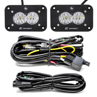 S2 Sport, Pair, LED Wide Cornering, Flush Mount, Backup Kit