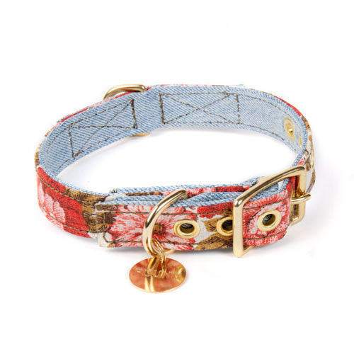 Vintage Blossom Denim Collar