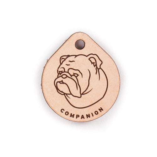 Leather Tag - English Bulldog
