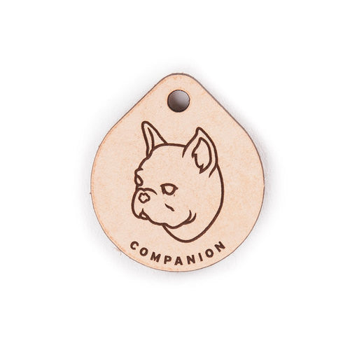 Leather Tag - French Bulldog