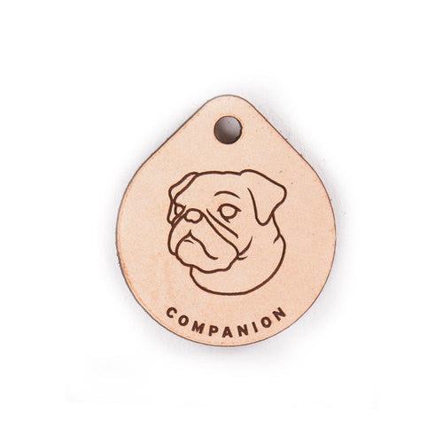 Leather Tag - Pug
