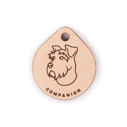 Leather Tag - Miniature Schnauzer