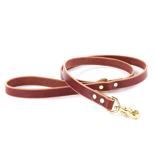Essential Burgundy Leather Leash