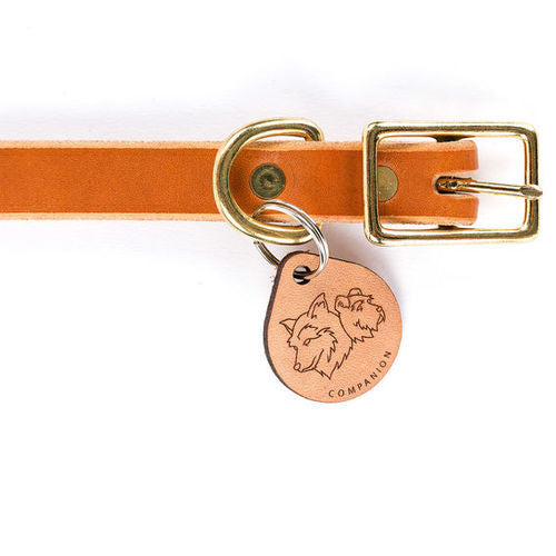 Essential Tan Leather Collar